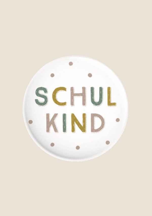 "ava&yves Button ""Schulkind"" pastell - tiny-boon.com"