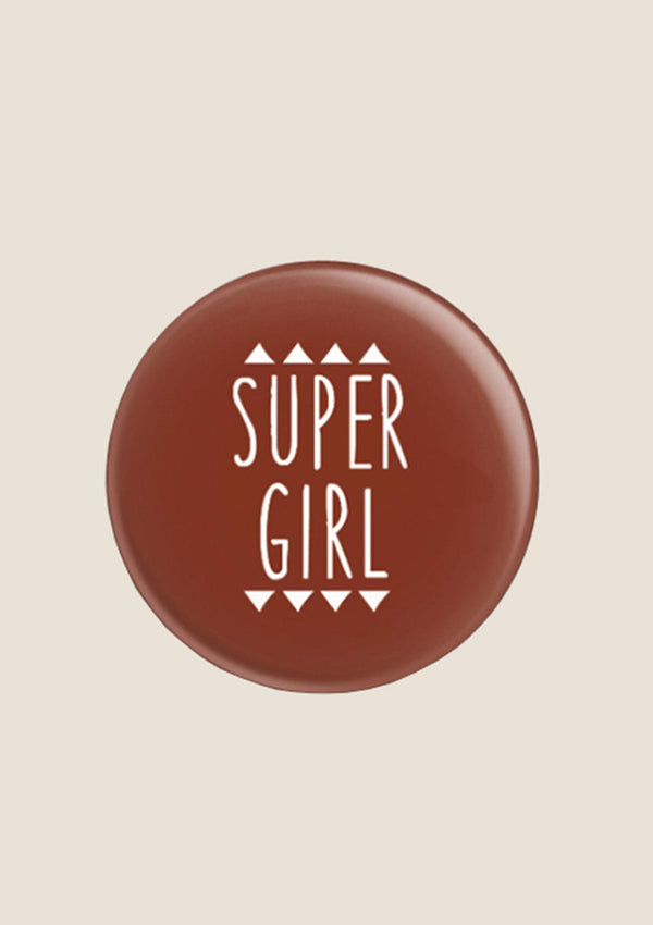 "ava&yves Button ""Super Girl"" in rot - tiny-boon.com"
