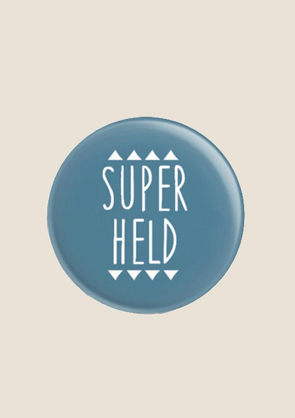 "ava&yves Button ""Super Held"" in blau - tiny-boon.com"