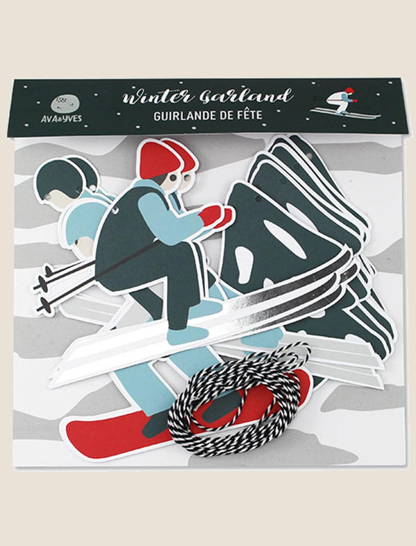 "ava&yves Girlande ""Wintersport"" - tiny-boon.com"