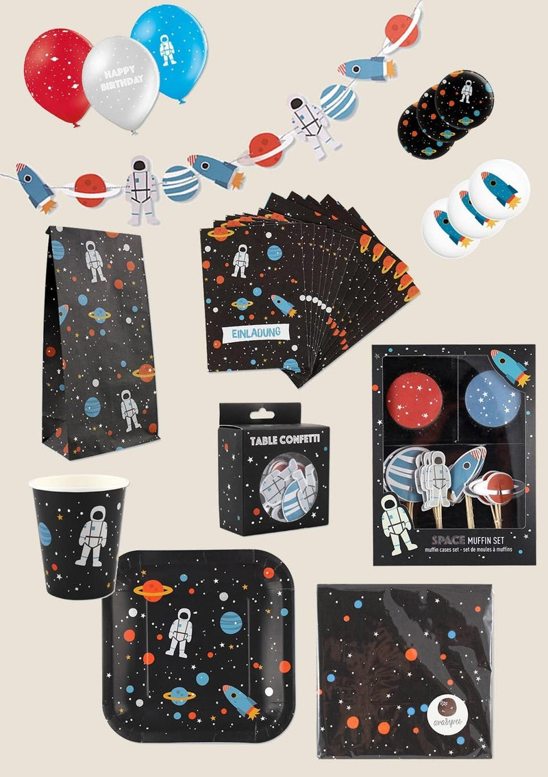 "ava&yves Partyset XXL ""Space"" 182er-Set - tiny-boon.com"