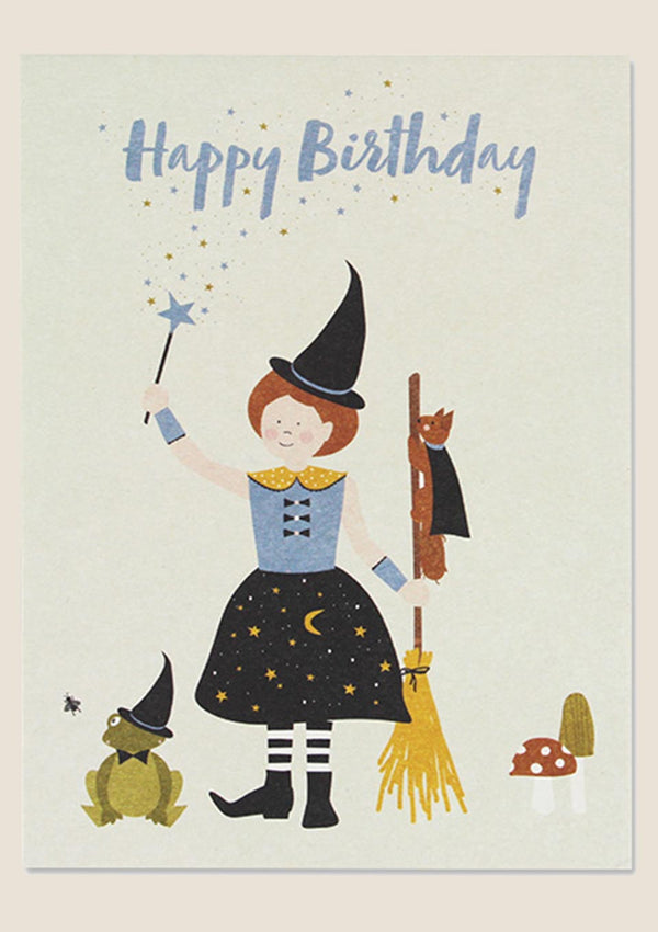 ava&yves Postkarte Hexe – Happy Birthday - tiny-boon.com