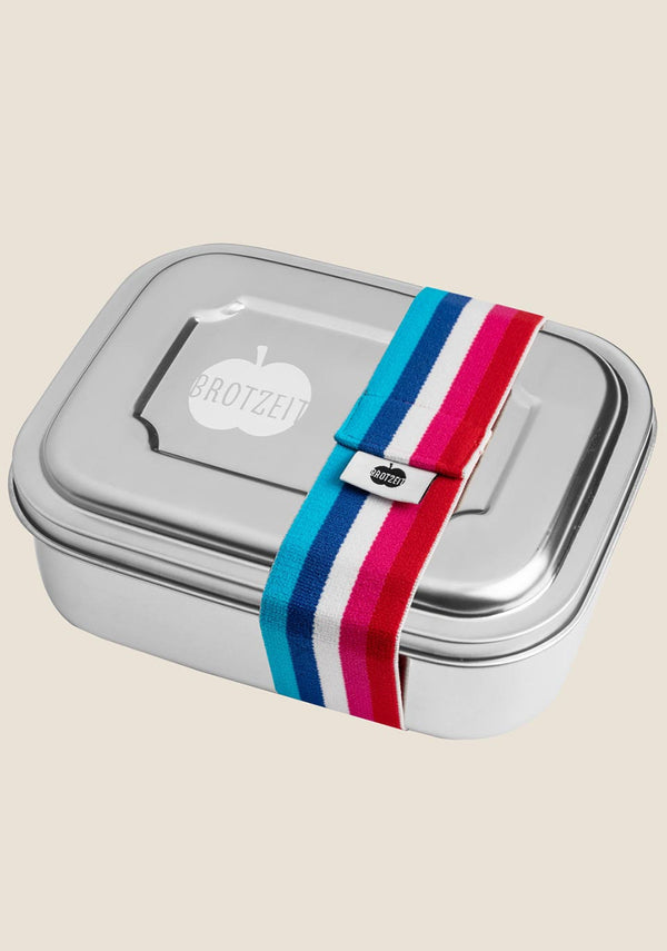 Brotzeit Lunchbox mit 2er Unterteilung in bunt rot/blau - tiny-boon.com