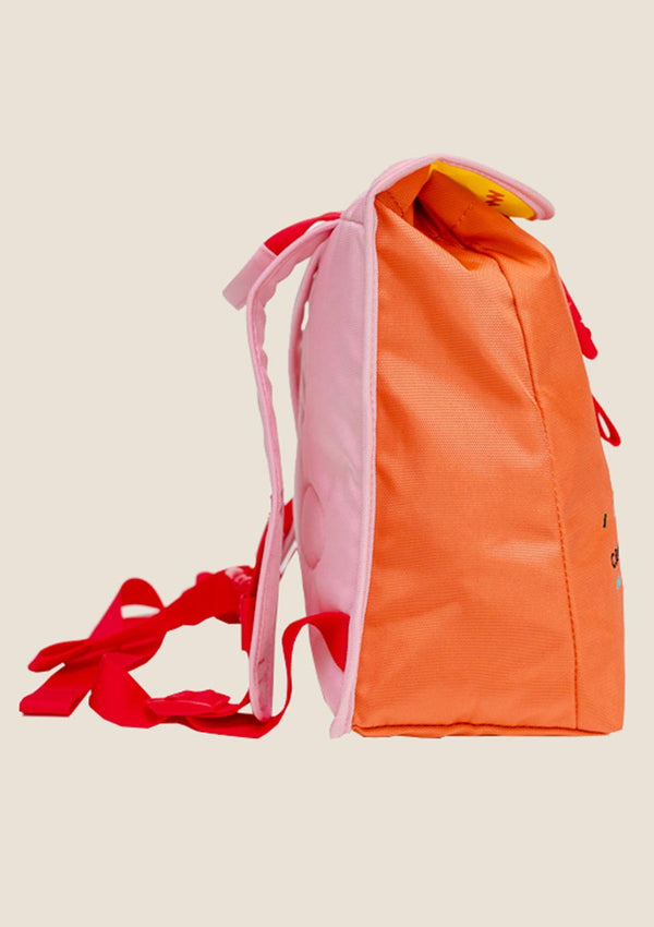"CRAEKKER Mini-Rucksack ""JAY"" in Pink-Orange - tiny-boon.com"