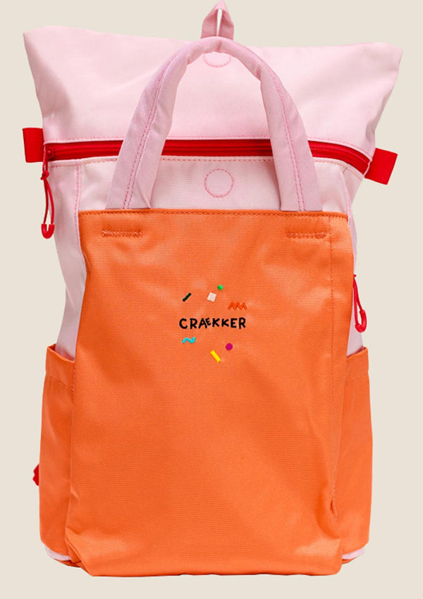 "CRAEKKER Totepack ""Magpie"" in Pink-Orange - tiny-boon.com"