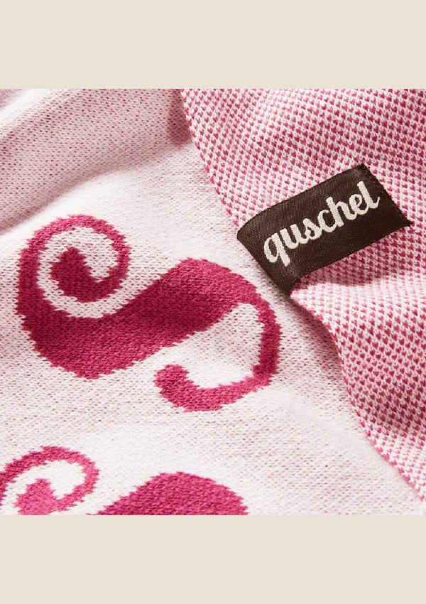 "die quschel company Kuscheldecke ""Girls Only"" in rosa/lila - tiny-boon.com"