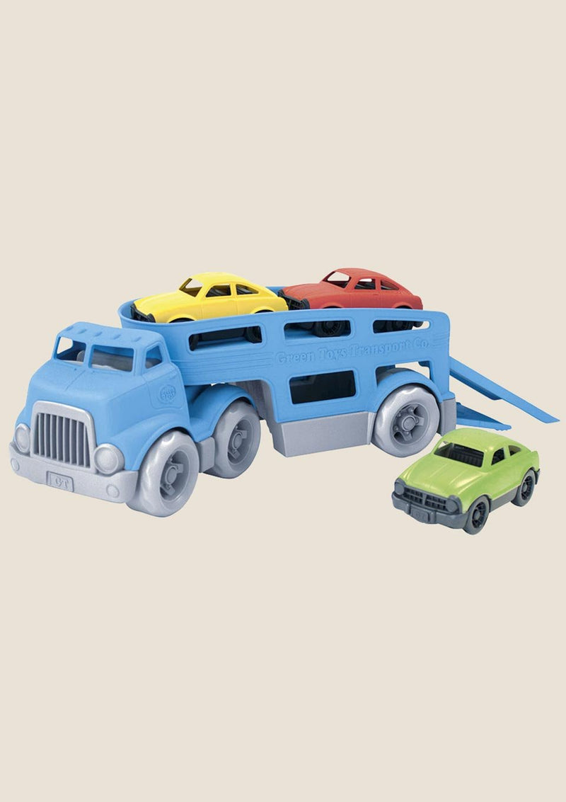 Green Toys Car Carrier - Autotransporter mit 3 Autos - tiny-boon.com