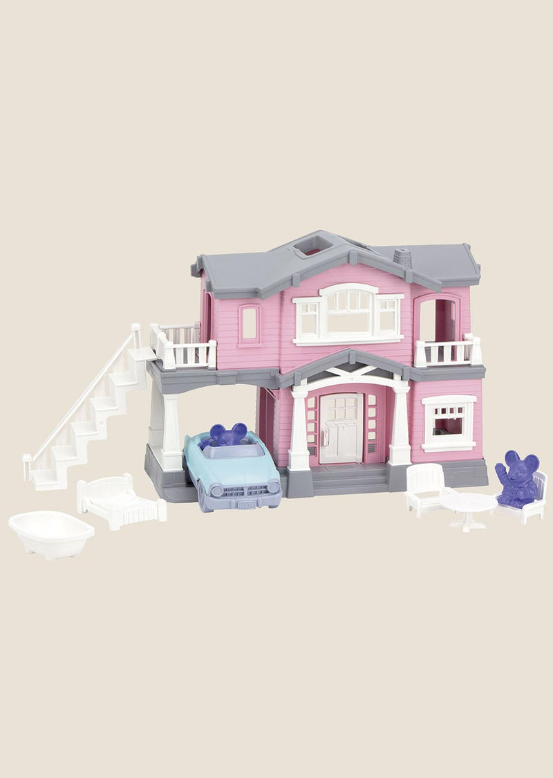 Green Toys House Playset - Haus-Spielset 10-teilig - tiny-boon.com