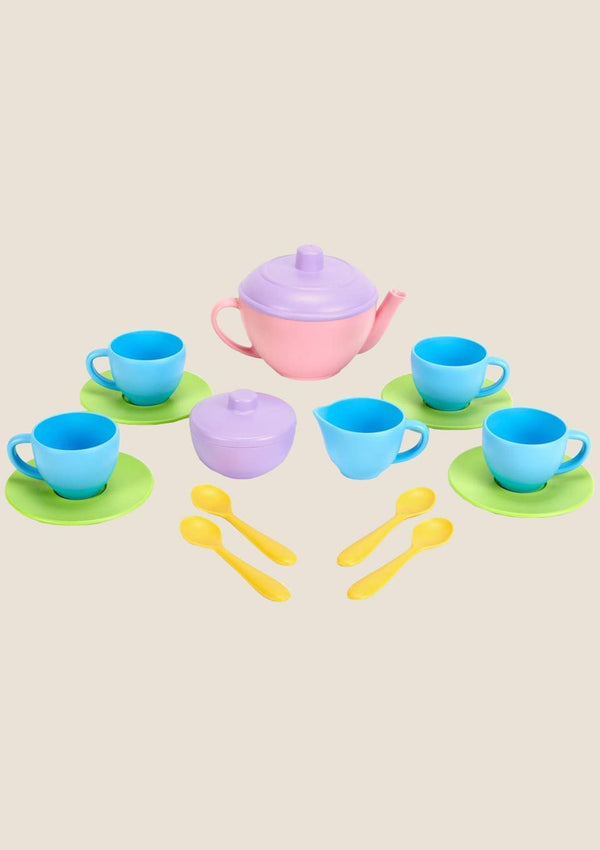 Green Toys Play-Set Tea - Teeservice in pink 17-teilig - tiny-boon.com
