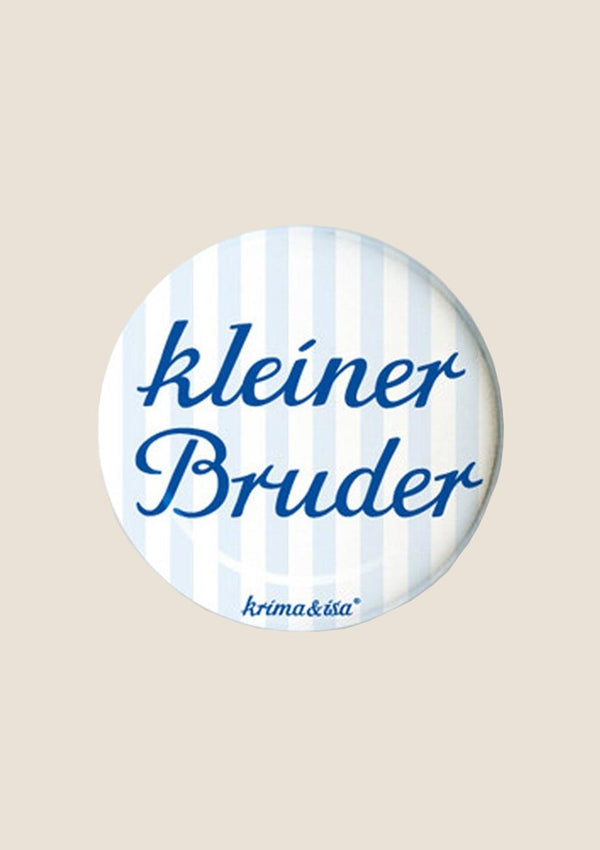 "krima & isa Button ""kleiner Bruder"" - tiny-boon.com"