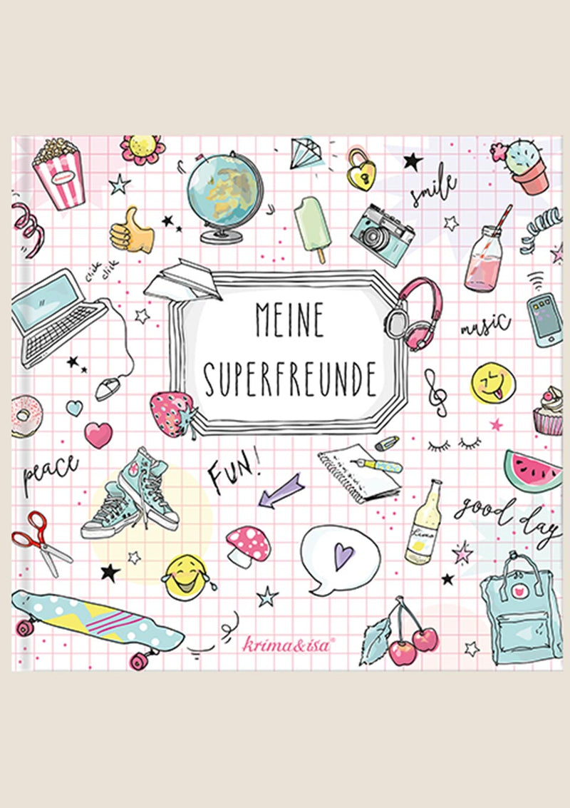 "krima & isa Freundebuch Girlpower ""Meine Superfreunde"" in rosa - tiny-boon.com"