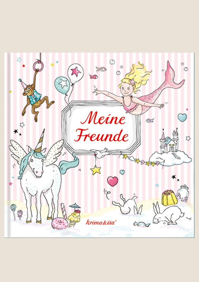 "krima & isa Freundebuch ""Meine Freunde"" in rosa - tiny-boon.com"