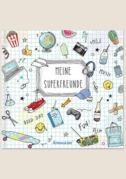 "krima & isa Freundebuch Play ""Meine Superfreunde"" in hellblau - tiny-boon.com"