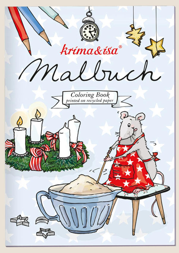 "krima & isa Malbuch ""Backmaus"" - tiny-boon.com"