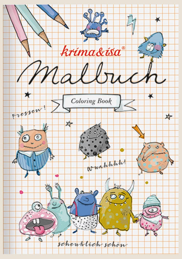 "krima & isa Malbuch ""Monster"" - tiny-boon.com"