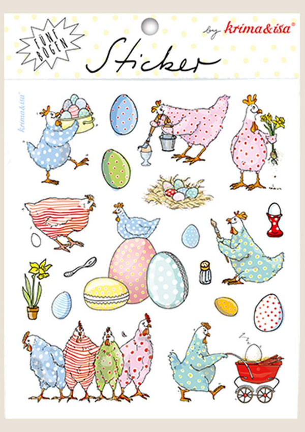 "krima & isa Sticker Bögen ""Ostern"" 5er Set - tiny-boon.com"