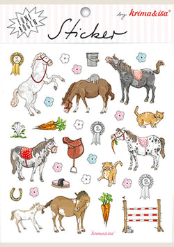 "krima & isa Sticker Bögen ""Pony"" 5er Set - tiny-boon.com"