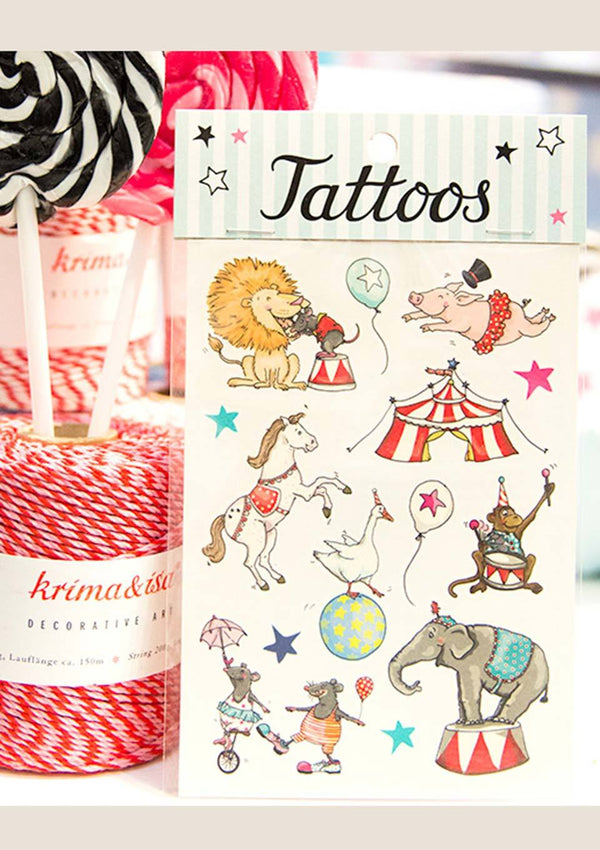 "krima & isa Temporäre Tattoos ""Zirkus"" - tiny-boon.com"