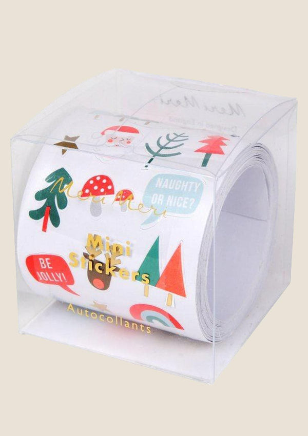 Meri Meri Mini Christmas Icon Roll mit 500 Stickern - tiny-boon.com