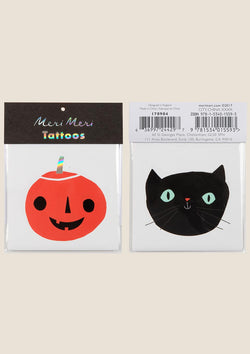 Pumpkin and Cat Tattoos