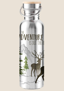 "Paperproducts Design Edelstahl Trinkflasche ""Adventure Deer"" 750ml isoliert - tiny-boon.com"