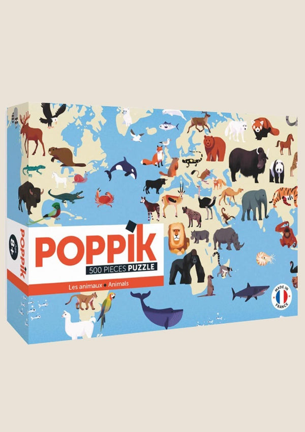 "Poppik Puzzle ""Tiere der Welt"" 500 Teile - tiny-boon.com"