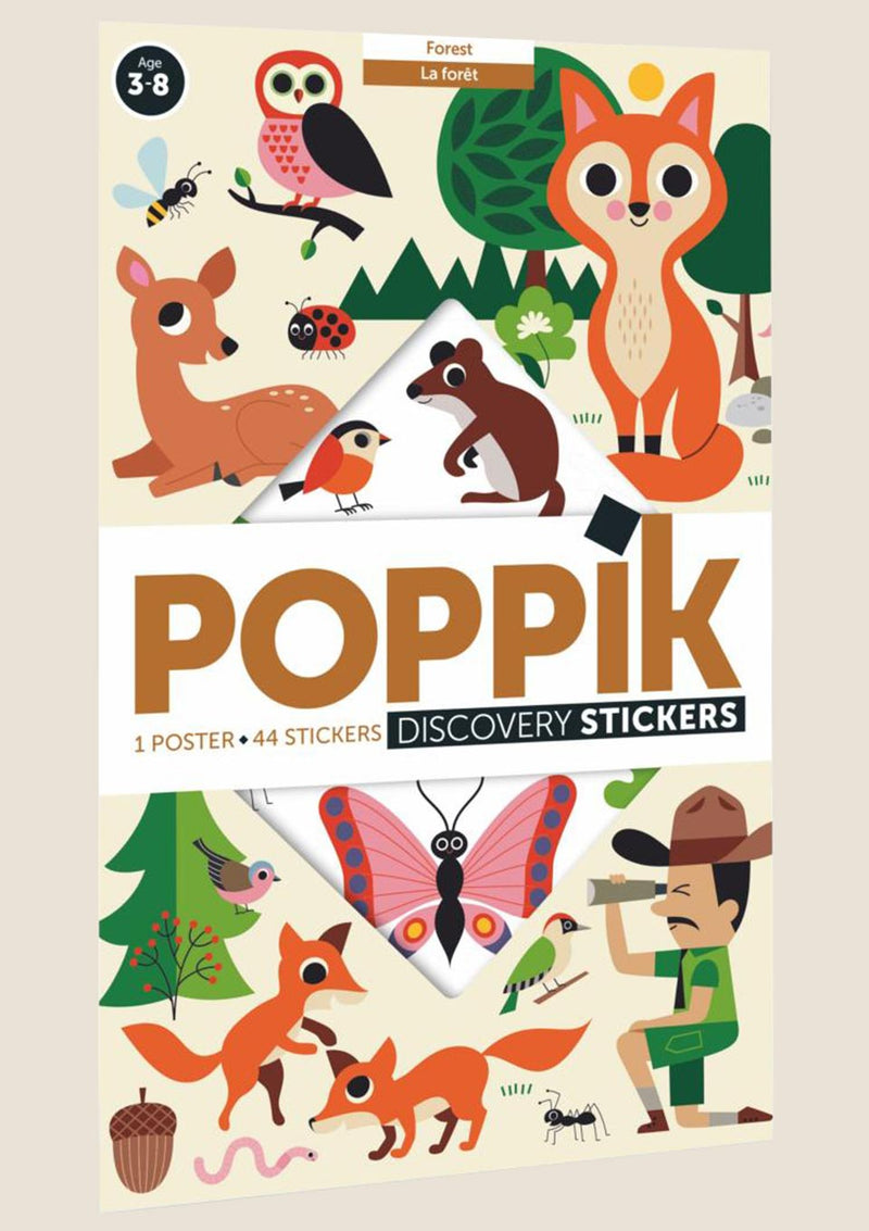 "Poppik Stickerposter-Discovery ""Im Wald"" mit 60 Sticker - tiny-boon.com"