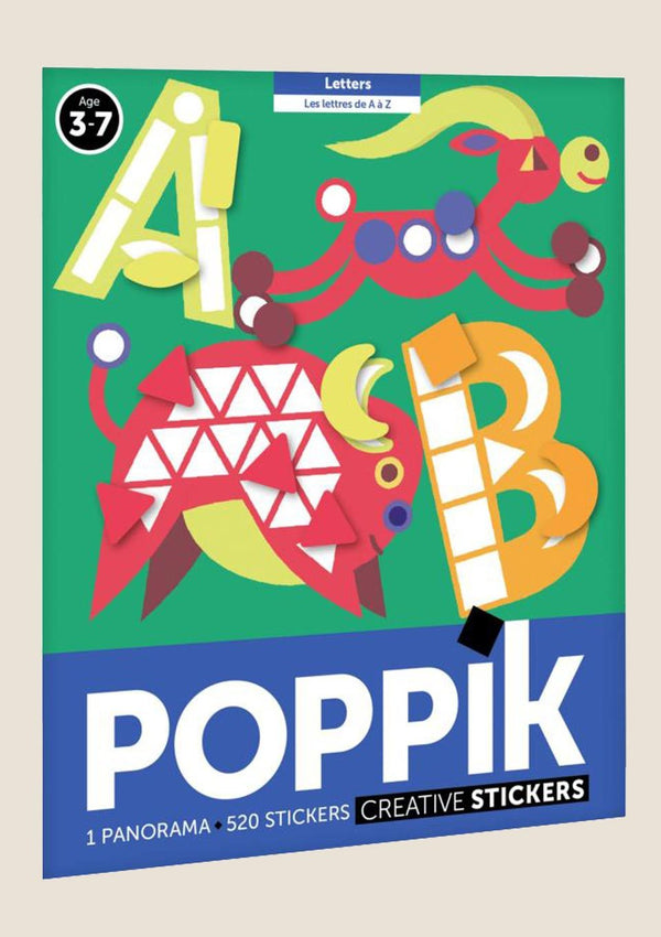 "Poppik Stickerposter-Panorama ""ABC"" mit 520 Sticker - tiny-boon.com"