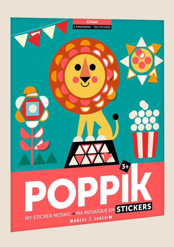 "Poppik Stickerposter-Panorama ""Zirkus"" mit 750 Sticker - tiny-boon.com"
