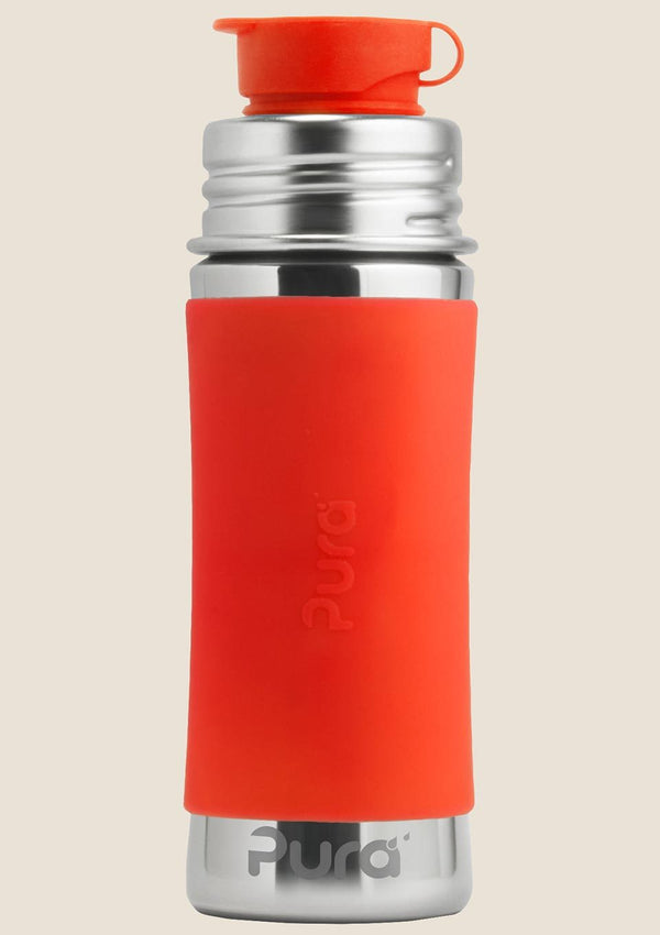 Pura kiki Edelstahl Sportflasche 325 ml in orange - tiny-boon.com