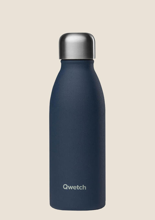 Qwetch ONE - ultra leichte Flasche in Granite Blau 500 ml - tiny-boon.com