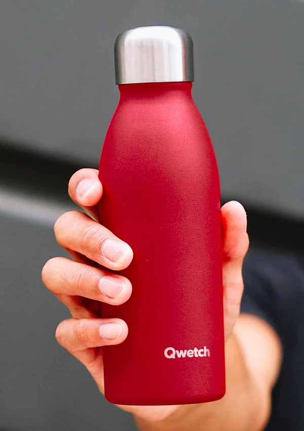 Qwetch ONE - ultra leichte Flasche in Granite Rot 500 ml - tiny-boon.com