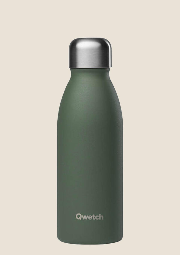 Qwetch ONE - ultra leichte Flasche in khaki 500 ml - tiny-boon.com