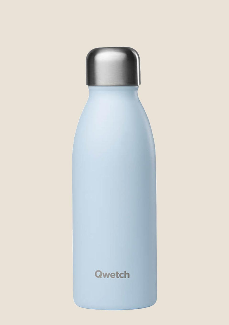 Qwetch ONE - ultra leichte Flasche in pastel blau 500 ml - tiny-boon.com