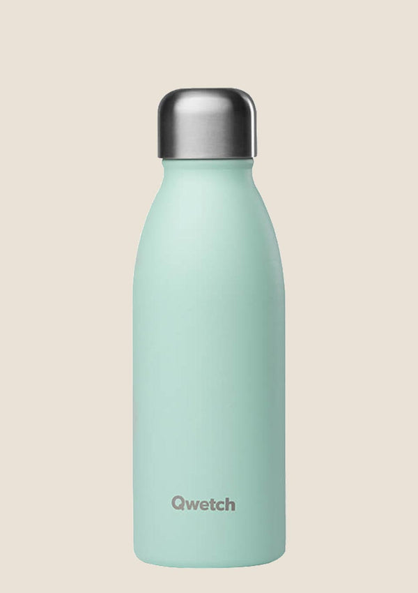 Qwetch ONE - ultra leichte Flasche in pastel mint 500 ml - tiny-boon.com