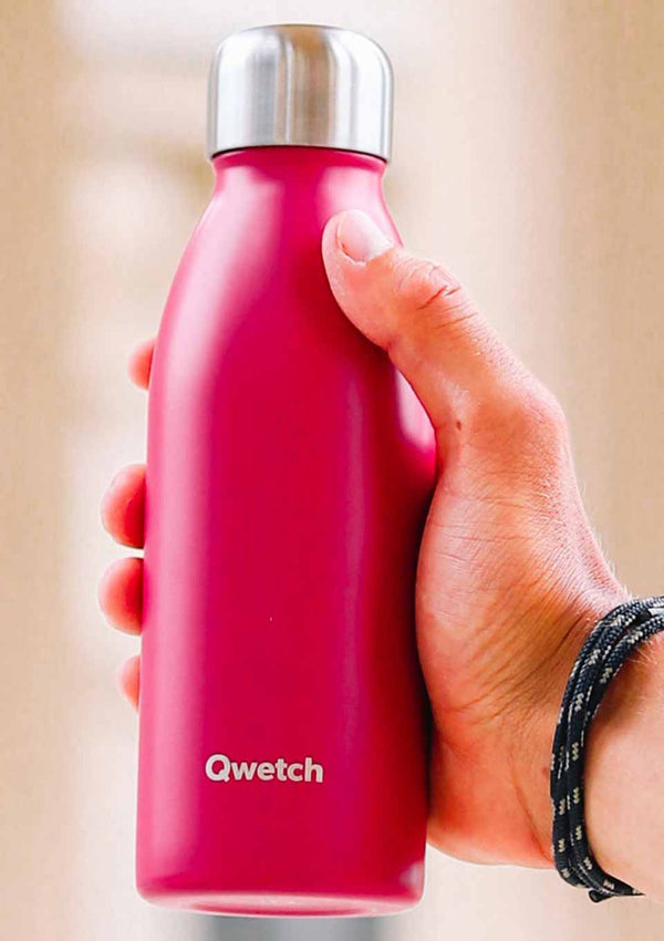 Qwetch ONE - ultra leichte Flasche in pink 500 ml - tiny-boon.com