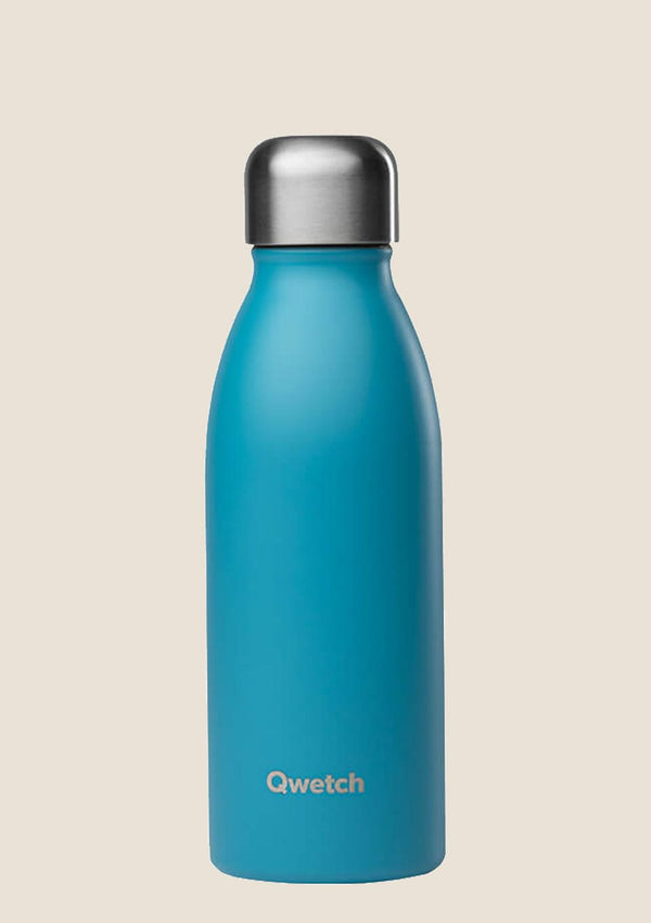 Qwetch ONE - ultra leichte Flasche in türkis 500 ml - tiny-boon.com