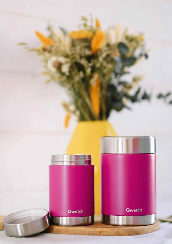 Qwetch Thermobehälter isoliert 650 ml in pink - tiny-boon.com