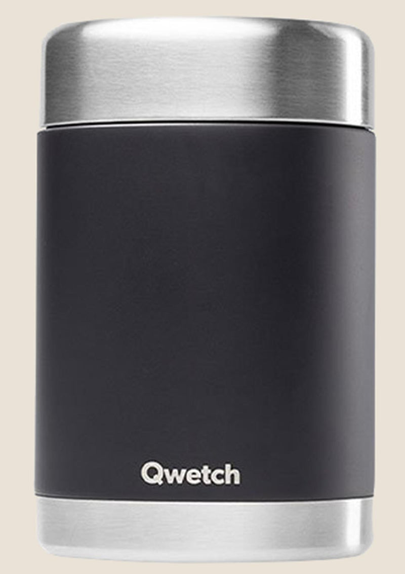 Qwetch Thermobehälter isoliert 650 ml in schwarz - tiny-boon.com