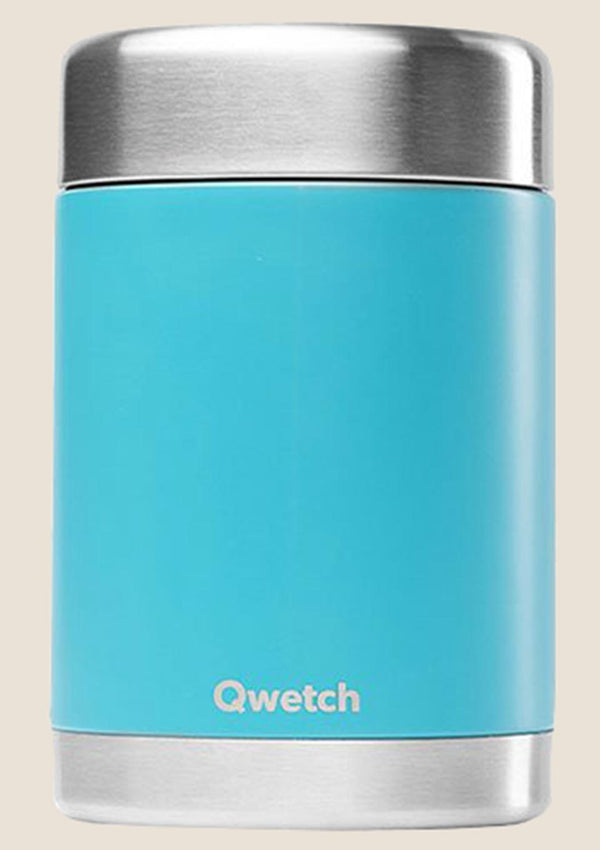 Qwetch Thermobehälter isoliert 650 ml in türkis - tiny-boon.com