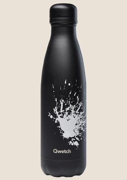 "Qwetch Thermosflasche ""Black Spray"" 500ml Sonderedition - tiny-boon.com"