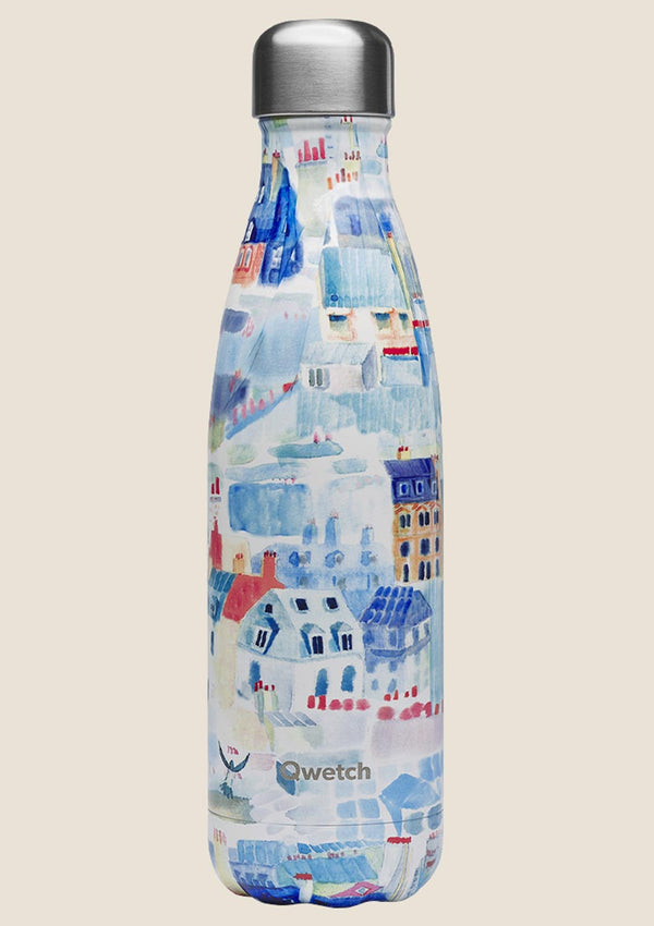 "Qwetch Thermosflasche ""Die Dächer von Paris"" 500ml Sonderedition - tiny-boon.com"