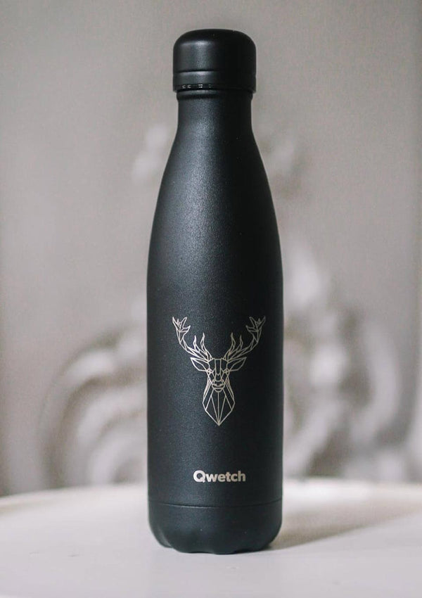 "Qwetch Thermosflasche ""Hirsch Tätowierung"" 500ml - tiny-boon.com"