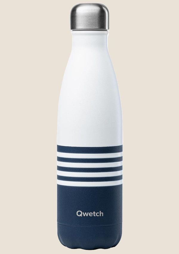 Qwetch Thermosflasche Mariniere Blau 500ml - tiny-boon.com