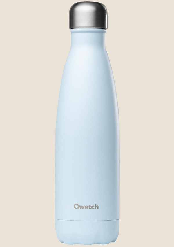 Qwetch Thermosflasche pastell hellblau 500 ml - tiny-boon.com
