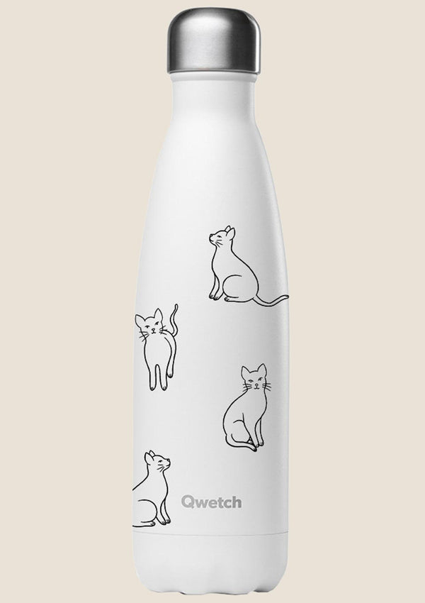 "Qwetch Thermosflasche ""Pretty Cats"" 500ml Sonderedition - tiny-boon.com"