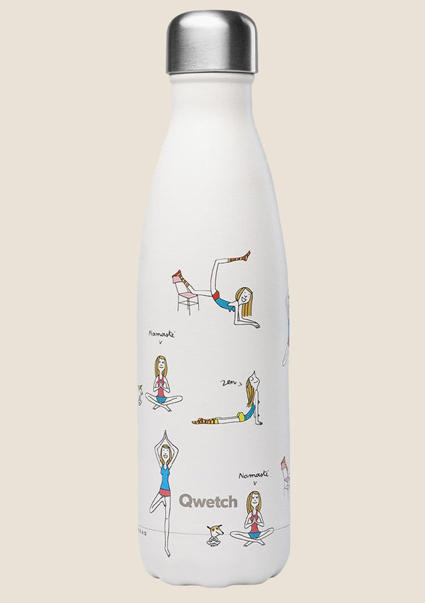 "Qwetch Thermosflasche ""Yoga"" 500ml Sonderedition - tiny-boon.com"