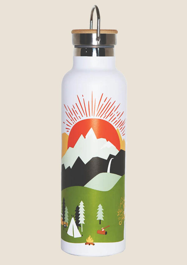 "Roadtyping Edelstahl-Flasche ""Mountain Adventure"" isoliert 750ml - tiny-boon.com"