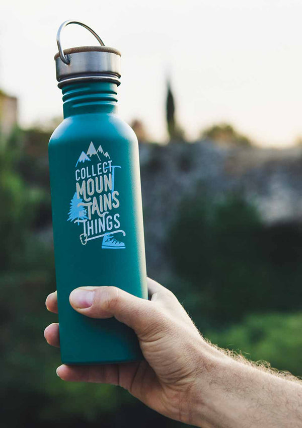 "Roadtyping Edelstahlflasche ""Collect Mountains"" 750ml - tiny-boon.com"
