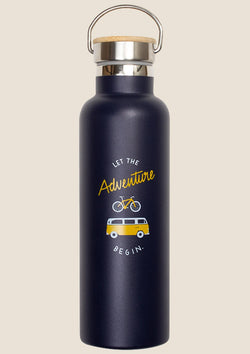 "Roadtyping Edelstahlflasche ""Let the Adventure Begin"" isoliert 750ml - tiny-boon.com"